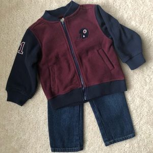 Boys' Jacket and Jeans Set Sz 18 months
